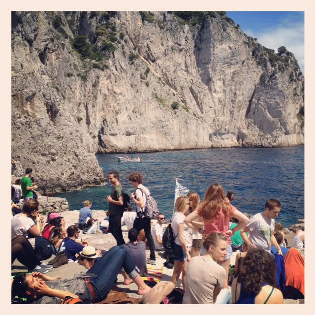 Solbadare på Capri