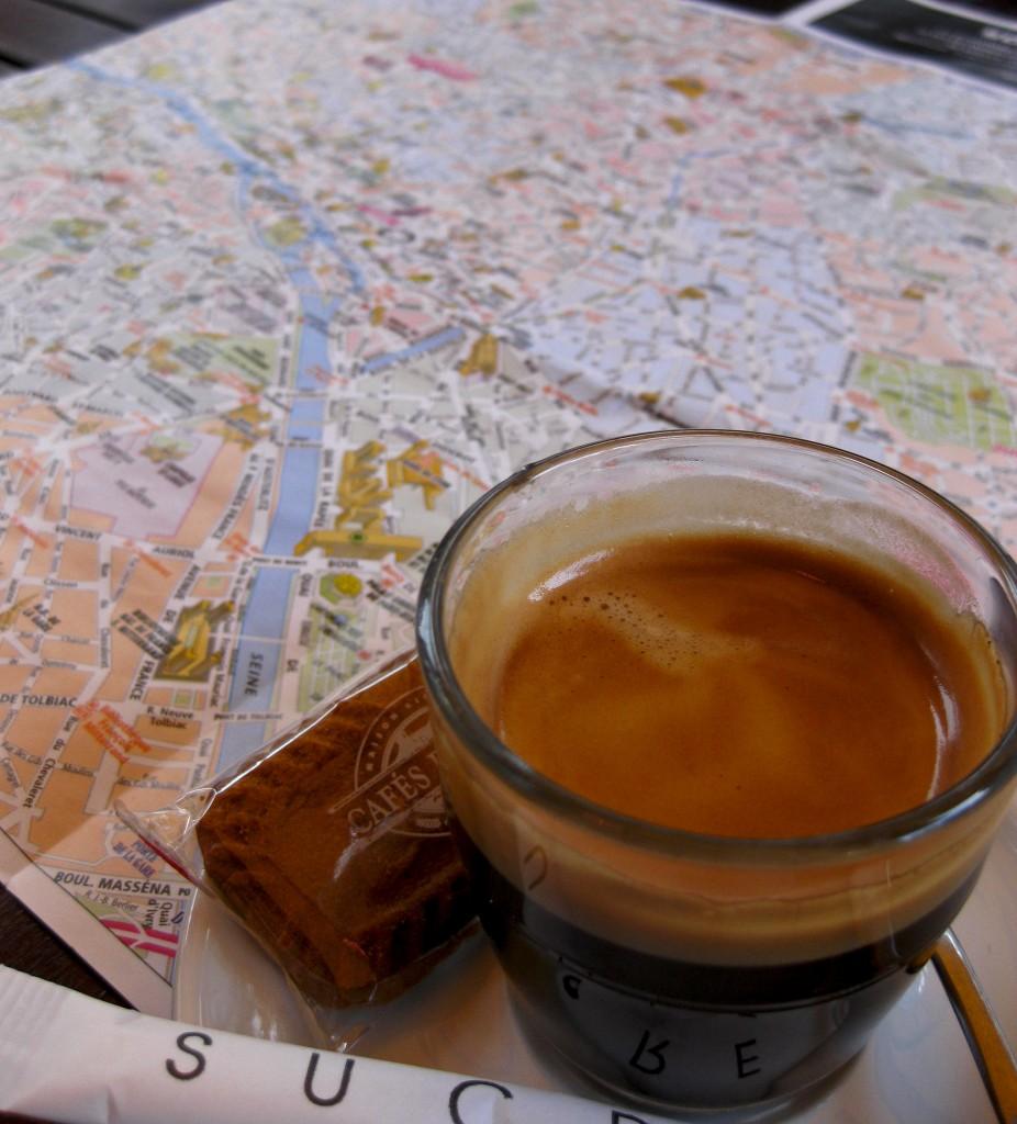 Kaffepaus i Paris
