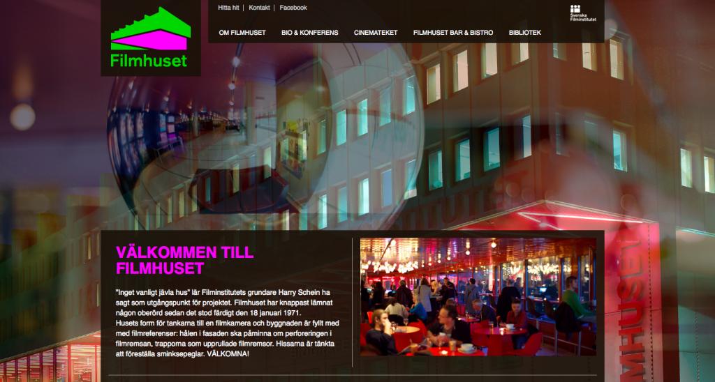 Filmhusets webbsida