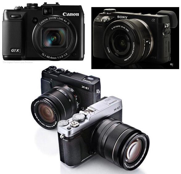 Kameravalet, Canon, Sony, Fujiflm