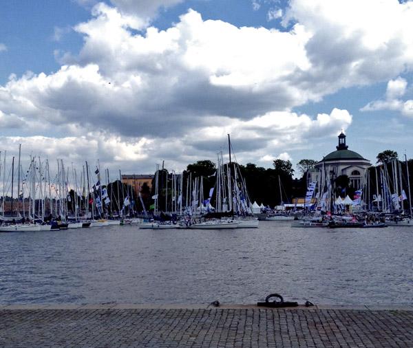 Båtar laddar inför Gotland Runt