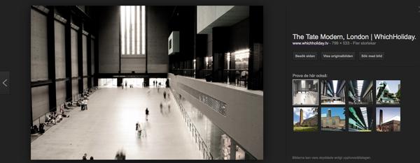 Tate Modern är en supercool byggnad. Bildkälla: WhichHoliday