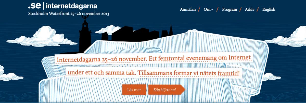 Internetdagarna 25-26 november i Stockholm