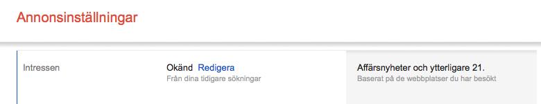 Googles annonsinställningar