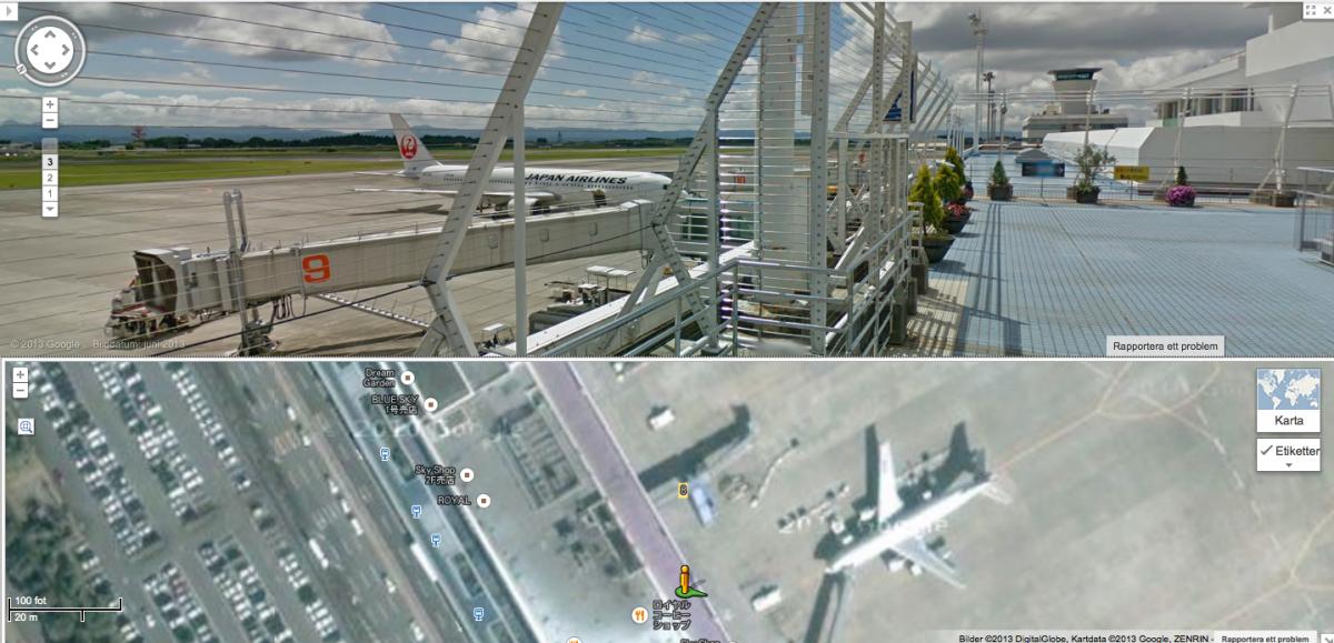 Street View transit locations