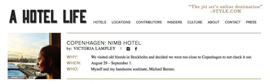 A Hotel Life blogg