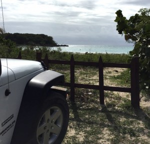 Jeep to the beach