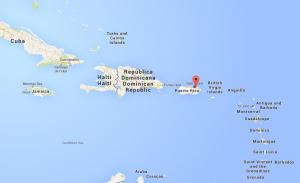 Google Maps karta Puerto Rico